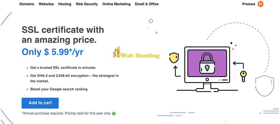 Cheap Godaddy Ssl Certificate Godaddy Ssl Certificate For 599yr
