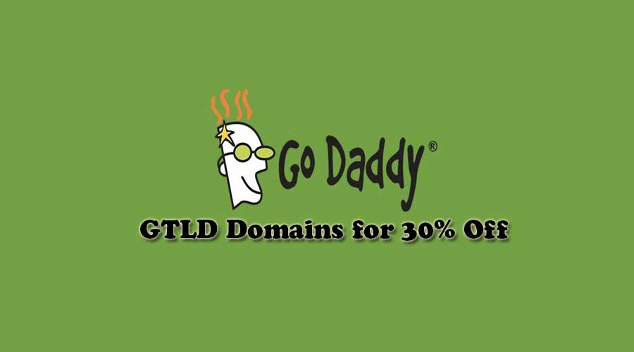 30% Off on GTLD domain by Godaddy