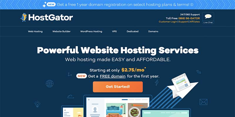 HostGator Free Domain Registration