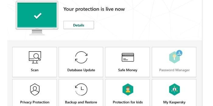 Kaspersky Total Security Detection