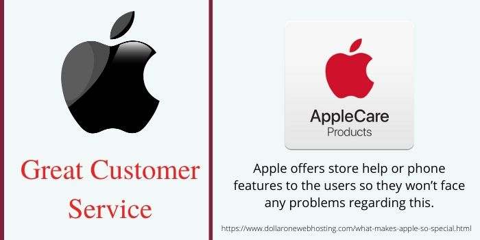 What makes Apple so Special-Good Customer Service