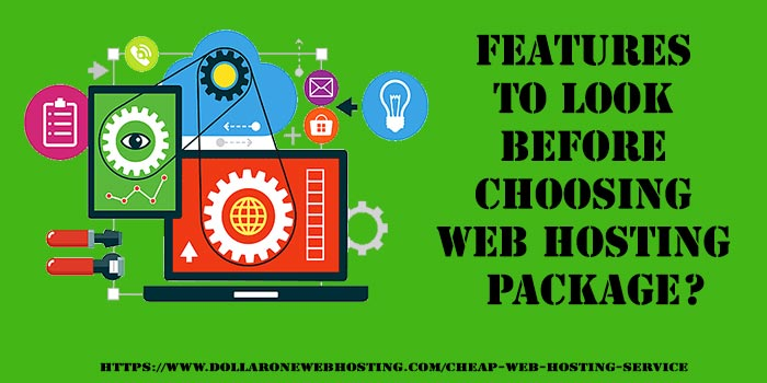 Features of Cheap Web Hosting Package
