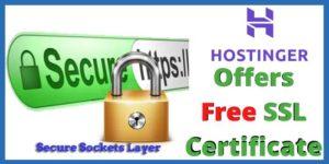 Does Hostinger Offer a Free SSL Certificate?