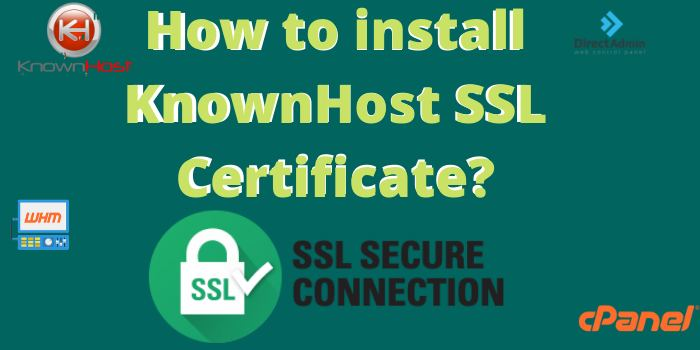 How to Install a KnownHost SSL Certificate?