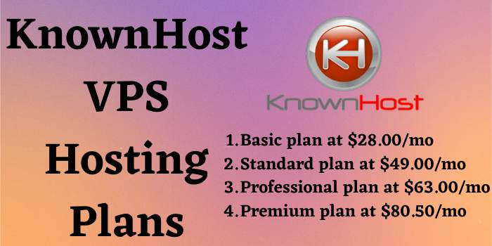 KnownHost VPS Hosting Plans