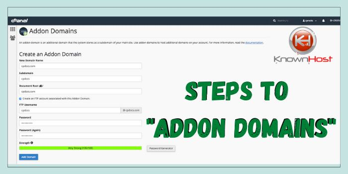 Steps to Addon Domains