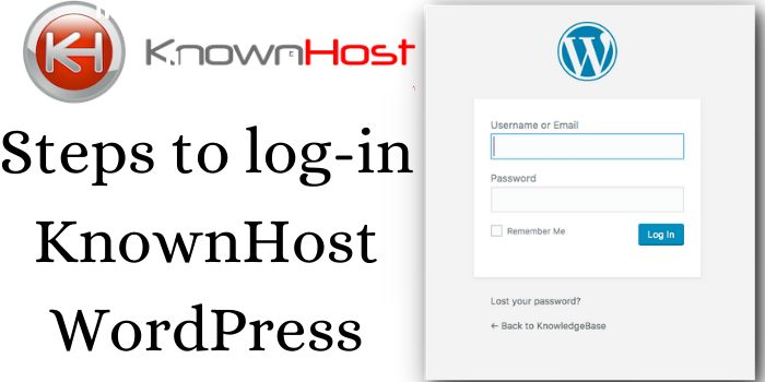 Steps to Log-in WordPress KnownHost
