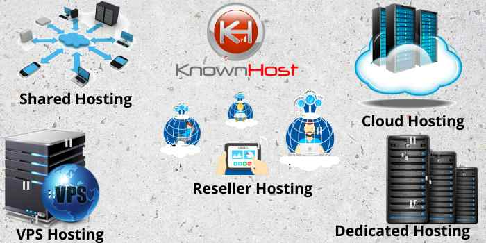 Types of KnownHost Web Hosting