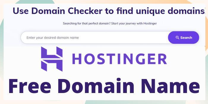 Hostinger Free domain name