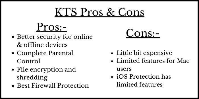 KTS Pros & Cons