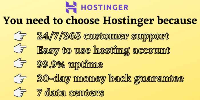 Why do you need to buy hosting from Hostinger?