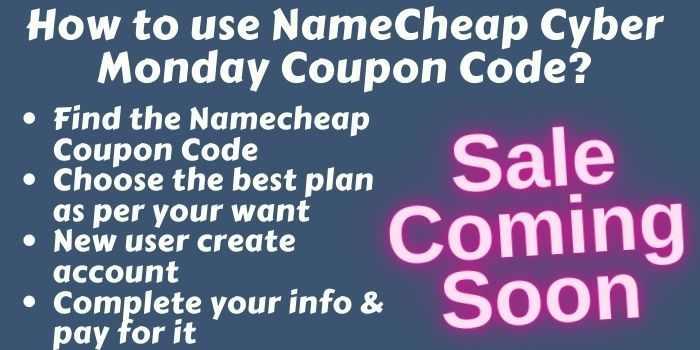 NameCheap Cyber Monday Promo Codes