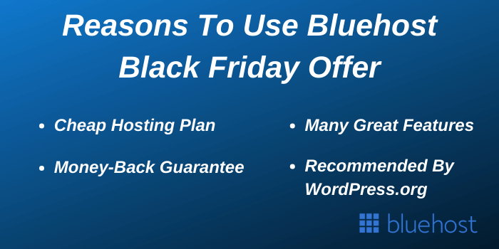 Reasons to use Bluehost Black Friday Offers