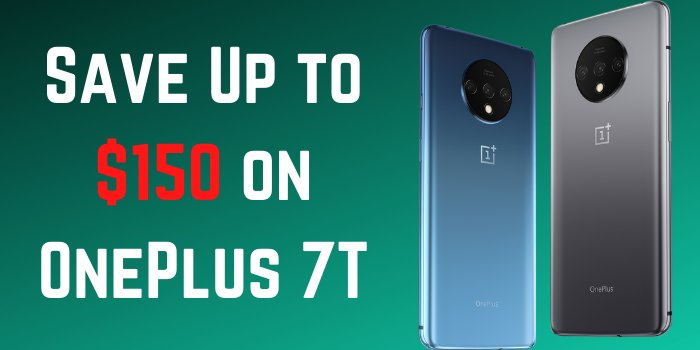 Save $150 on the OnePlus 7T