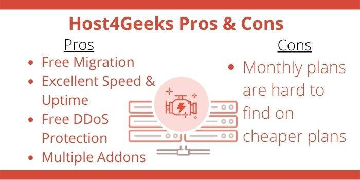 Host4Geeks Pros & Cons