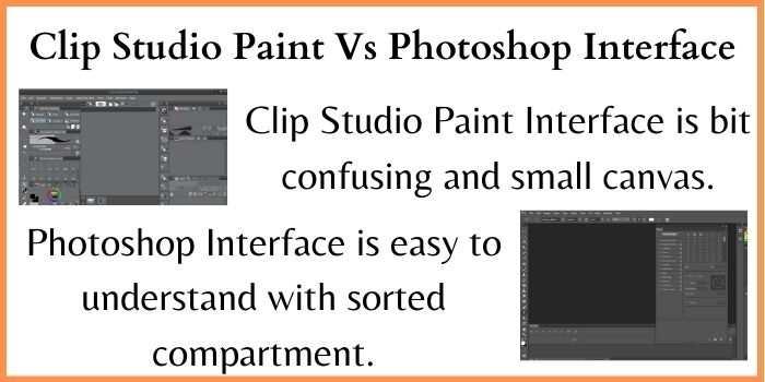 Clip Studio Paint Vs Photoshop Interface