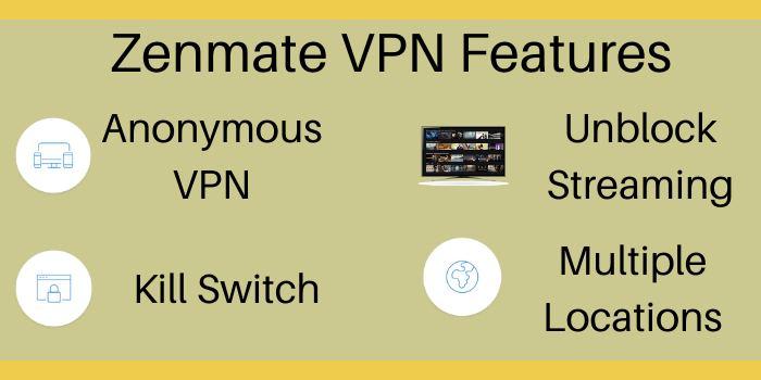 Zenmate VPN Features