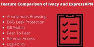 Features: ExpressVPN vs ivacy VPN