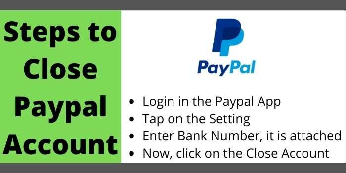 Steps To Delete PayPal Account